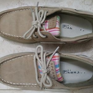 SPERRY Girls Size 3 Intrepid Boat Shoes